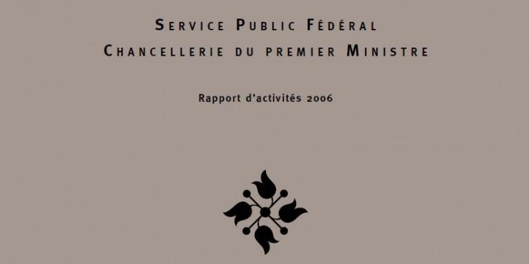 couverture rapport d'activités 2006